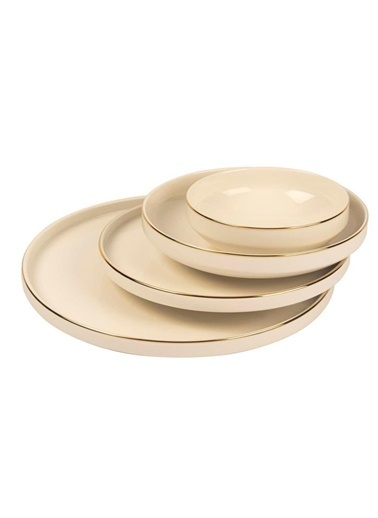 Mikasa Moor Gold Modern 24 Parça Yemek Takımı (6 Kişilik) Altın